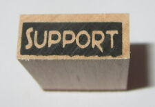 """Support Rubber Stamp New Wood Mounted Words PSX 3/8"""" High x 7/8"""" Long Friendship"""