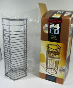 ATLANTIC 24 CD Storage Tower Wall Mount Heavy Gauge Steel In Open Box