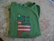New ListingLife Is Good Llama long sleeve crusher crewneck , Nwot green Size womens Large
