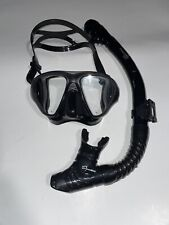 Phantom Aquatics Scuba Snorkeling Freediving Mask Snorkel Set, Black