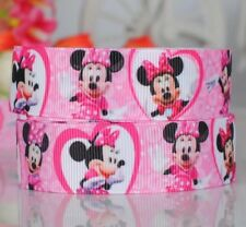 1 Meter of Minnie Mouse Character 25mm Grosgrain Ribbon for Card Making & Bows