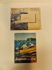VINAGE 1954 EVINRUDE OUTBOARD MOTOR ADVERTISING POSTER AND ENVELOPE
