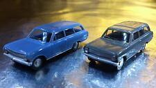 * Herpa 451574 Opel Rekord Estate 2 cars in Pack 1:87 HO Scale