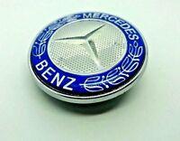 Mercedes Star Logo Emblem Badge Front Bonnet Hood Class C E S 57mm Clip