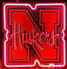 """Nebraska Cornhuskers 3D Neon Sign 10""""X10"""" Bar Gift Collector Husker Fan New"""
