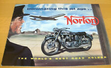 Norton - original Prospekt 1957 - Dominating this jet age