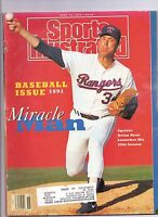 SPORTS ILLUSTRATED 4/15/1991 NOLAN RYAN COVER BASEBALL ISSUE 1991