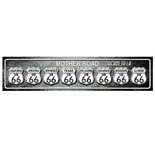 "Route 66 Chicago to LA Indoor/Outdoor Novelty Metal Mini Street Sign 4"" x 18"""