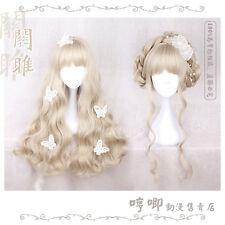KAWAI Daily Cute Gradien Princess Wig COS Sweet Lolita JP Harajuku Long Curly#GF