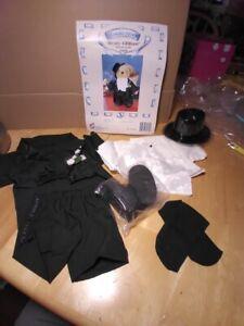 "Treasured Toggery Beary Grant Tuxedo Outfit Fit 12"" Plush Teddy Bear #82239"