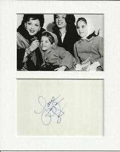 Lorna Luft daughter of judy garland genuine authentic autograph signature AFTAL