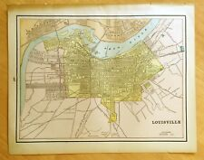 Antique Maps c1895 Louisville, Ky & Milwaukee, Wi 11 1/2 x 14 3/8 Original