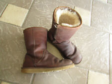 UGG LEATHER SHERPA FLEECE LINED MID BOOTS WOMENS 7 STYLE: 3323