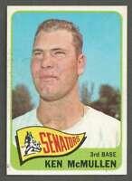 1965 Topps #319 Ken McMullen NM/NM+ Senators 40563