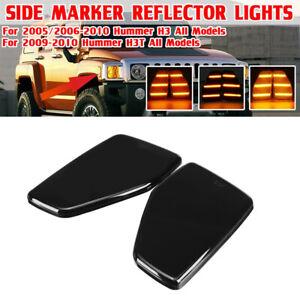 2x Side Marker Corner Parking Lights For 2006-10 Hummer H3 Alpha/X/Championship
