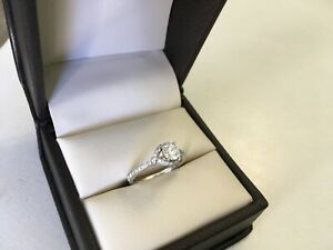 18K WG HEARTS ON FIRE DIAMOND ENGAGEMENT WEDDING RING Sz 4.25 SPARKLY BEAUTIFUL