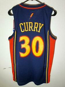 ADIDAS GOLDEN STATE WARRIORS STEPHEN CURRY NAVY SWINGMAN JERSEY size SMALL