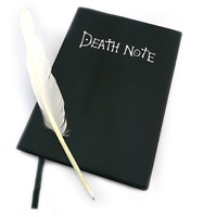 Death Note Book with Quill Feather Pen Cosplay Prop Anime Diary Planner Pad UK