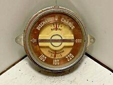 1947 Buick Original GM Temperature and Amp Gauge Cluster