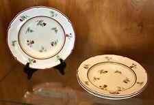 "VILLEROY & BOCH Germany JOY NOEL Pattern 9"" RIMMED SOUP BOWLS Set of 3"