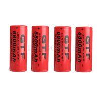 1/2/4/6/8/10 PCS 26650 8800mAh 3.7V Rechargeable Li-ion Battery  For Flashlight