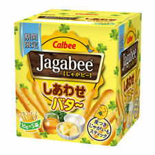 Japanese Food Calbee Jagabee Happy Butter Taste Stick Snack 18g x 5 Bags per box