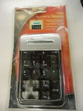 Comp USA Numeric Keypad Number Pad Keyboard With Retractable USB Cable
