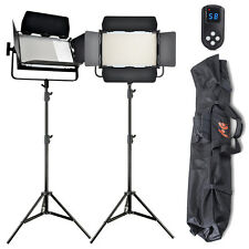 2x High CRI Bi-color 1040 LED Video Lights Studio Film Lighting Kit +Control Bag