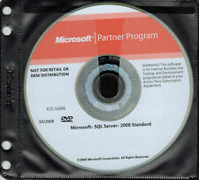 Microsoft Windows SQL Server 2008 Standard Edition Disk and License Key