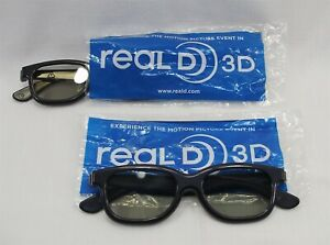 3D Glasses Real D 3D Passive TV Movie Theater 3 pair Plastic Family Pack