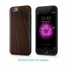 iPhone 6 6S Phone Case Real Wood Cover Snap On Bumper Wooden Design Bois de Rose