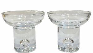 Littala Tapio, Tapio Wirkkala 1 Paar Kristall - Kerzenleuchter, Nordic Design