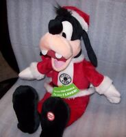 DISNEY Hallmark Christmas Totally Ticklish Goofy TALKS & MOVES NEW WITH TAGS