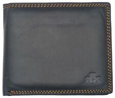 Mens High Quality Smooth Leather Flip up Wallet With Coin Holder by Rowallan Black