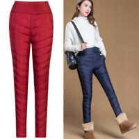 Women's Trousers Down Cotton Pants Warm Slim Casual Outdoor Winter Thick Outdoor