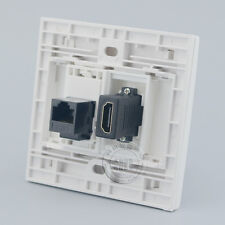 Wall Face Plate Network Ethernet LAN CAT6 + HDMI Outlet Faceplate Wall Socket