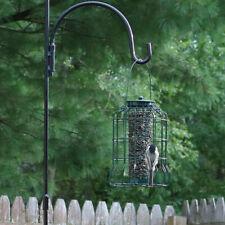Sunnydaze Outdoor Garden Green Wire Caged Hanging Bird Feeder