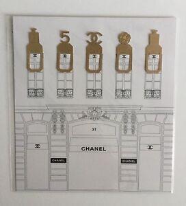 Chanel Metal Bookmark VIP Beaute Gift x 1 set of 5 pcs