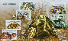 Niger 2015 MNH Turtles Pig-Nosed Turtle 4v M/S + 1v S/S Tortues Reptiles Stamps