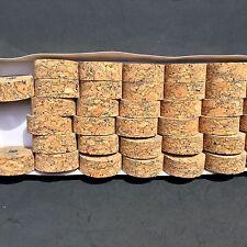 "Cork Rings 50 Full Grain Blue Burl   , 1 1/4"" x 1/2"" x 1/4"" Hole"