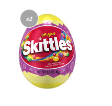916601 2 x 45g PACKETS OF SKITTLES ORIGINAL FRUITS CANDY FILLED EASTER EGG