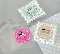 24 Wedding Theme Personalized Clear Candy Bags Bridal Shower Wedding Favors