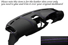 PURPLE STITCH DASH DASHBOARD LEATHER SKIN COVER FITS MITSUBISHI FTO 1994-2001