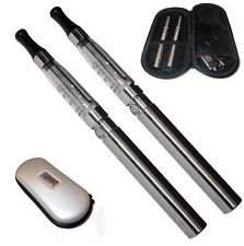 SILVER Rechargeable Electric Shisha Hookah 2 Pen Set + 1 Free Flavour Mix Fruit