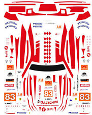 #83 Ferrari 458 Jmb Racing 2012 1/64th Ho Scale Slot Car Waterslide Decals
