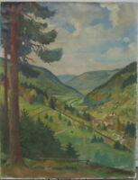 ::ROBERT SCHLEGEL-WILDBAD *1884 °ANSICHT ENZTAL SCHWARZWALD 1943