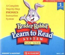 Reader Rabbit: Learn To Read System Preschool-2nd PC MAC CD reading phonics game