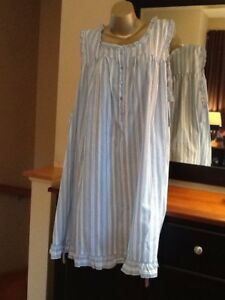 ADONNA LADIES BLUE /& WHITE GINGHAM COTTON NIGHTGOWN SIZE MEDIUM NEW WITH TAGS