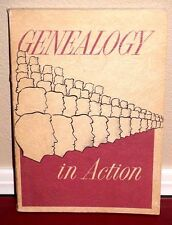 GENEALOGY IN ACTION 1964 1STED LDS MORMON CHURCH RARE VINTAGE PB