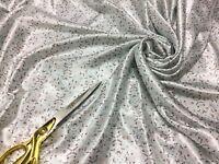 Nouveau Carreaux Doux L//poids Essence Bleu-anthracite viscose robe//jupe//chemise tissu